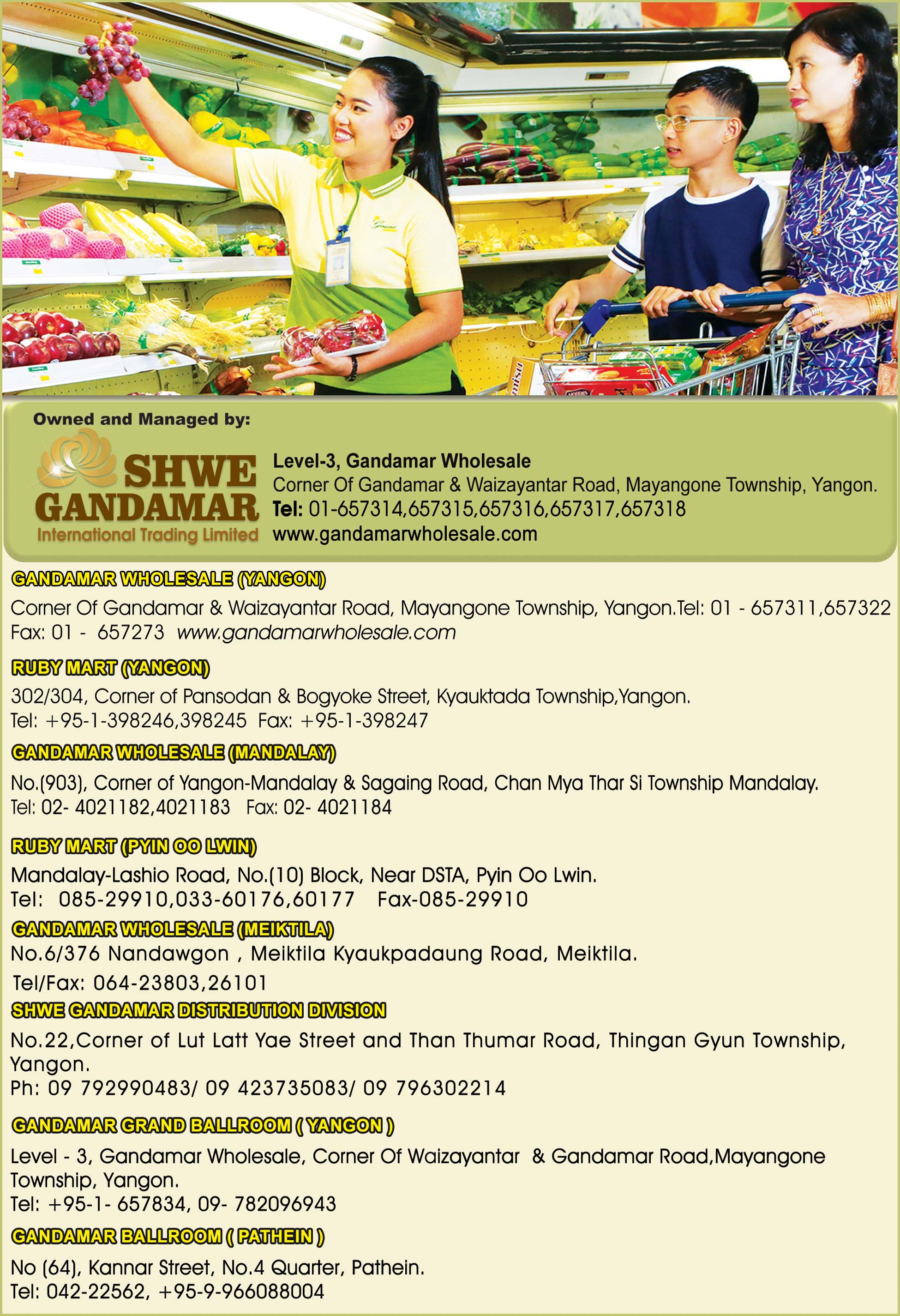 Shwe Gandamar International Trading Ltd.