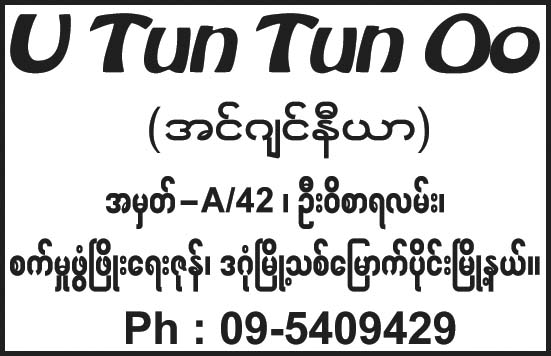 Tun Tun Oo (U)