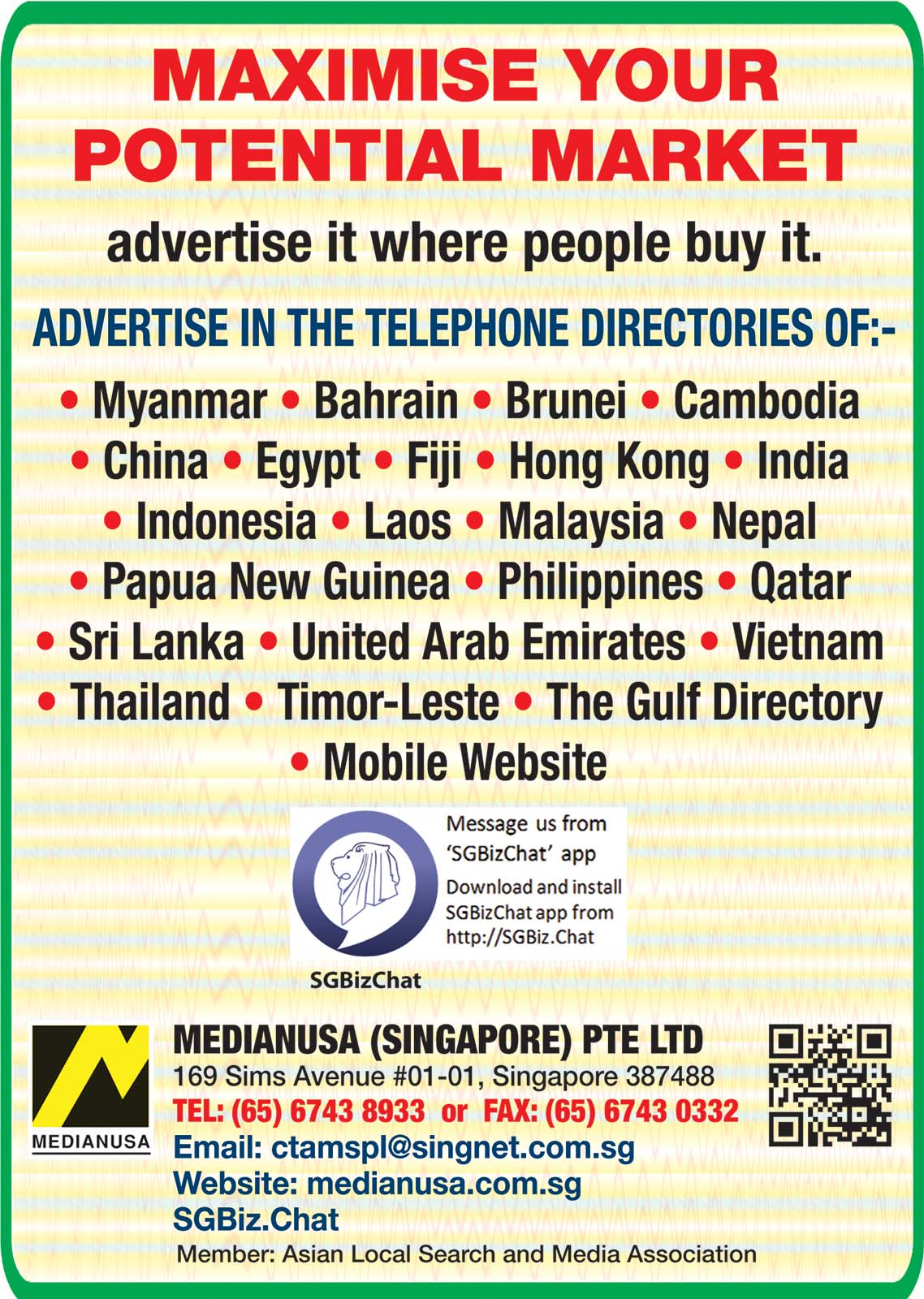 Medianusa (Singapore) Pte Ltd.