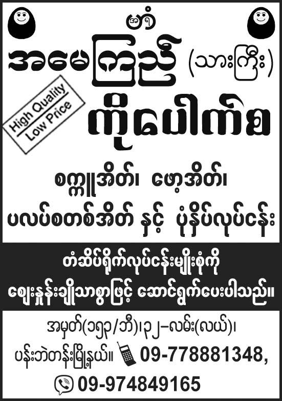 Amay Kyi (Son) Ko Pauk Sa