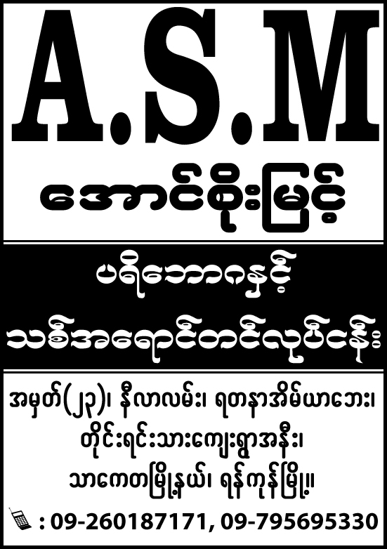 Aung Soe Myint (ASM)