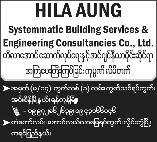 Hila Aung Systematic Building Services and Engineering Consultancies Co., Ltd.