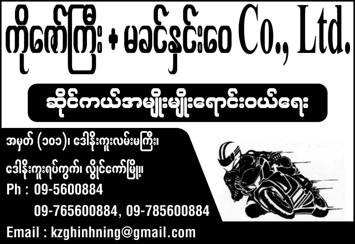 Ko Zaw Gyi + Ma Khin Hnin Wai Co., Ltd.