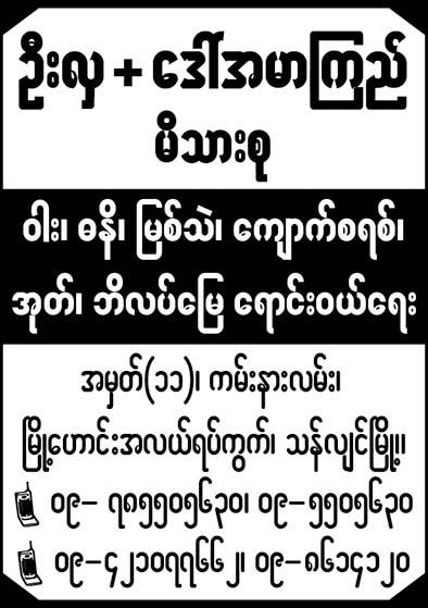 U Hla + Daw  Amar Kyi Family